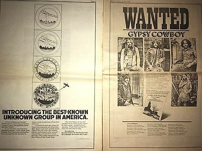 2 Lot New Riders Of The Purple Sage Jerry Garcia AD PINUP POSTER Gypsy  Cowboy