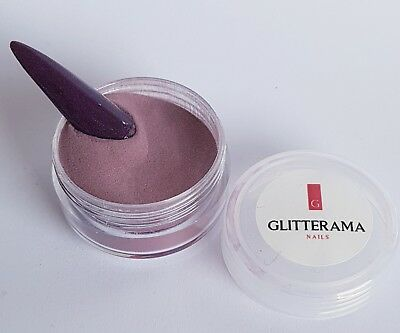 Plum coloured acrylic powder pre-mixed 4g pot colour glitterama deep plum