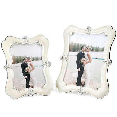 Handmade Silver Photo Picture Frame Simple Elegant Fashion Crystal Resin
