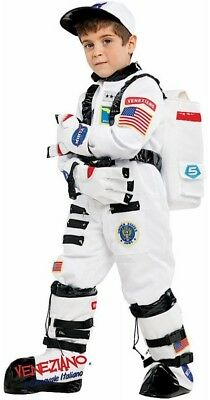 Italian Made Boys Deluxe Space Astronaut Carnival Fancy Dress Costume Outfit