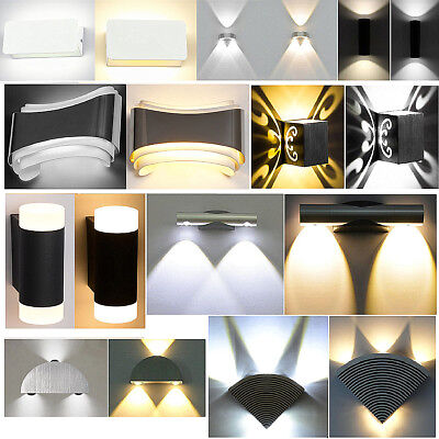 Modern LED Wall Light Up Down Lamp Sconce Fixture Cube Indoor Outdoor Home Garde