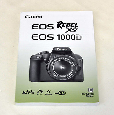 Canon EOS Rebel XS 1000D English Instruction Manual Booklet