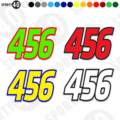 RACE NUMBERS - Vinyl Decals / sticker - Small Set of 3 - Motocross Trials Enduro