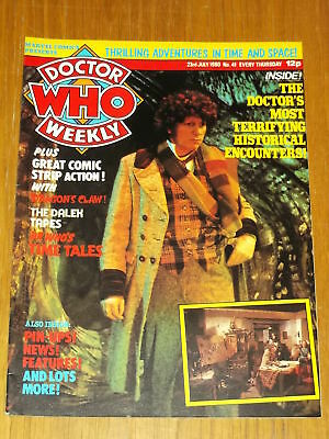 Doctor Who #41 1980 Jul 23 British Weekly Monthly Magazine Dr Who Dalek Cybermen