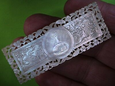 Antique Chinese  Mother Of Pearl Gaming Counters Armorial Chips