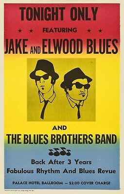 """""""Blues Brothers Band"""" Jake & Elwood Blues ...Classic Movie Poster Various Sizes"""