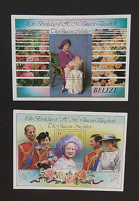 Belize 1985 Queen Mother's 85th Birthday MS831 MS miniature MNH UM unmounted