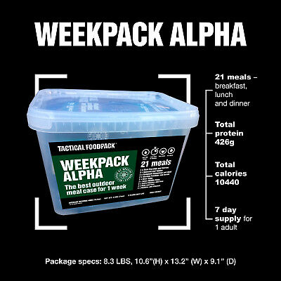 Tactical Foodpack Week Pack Alpha Outdoor Nahrung Notverpflegung