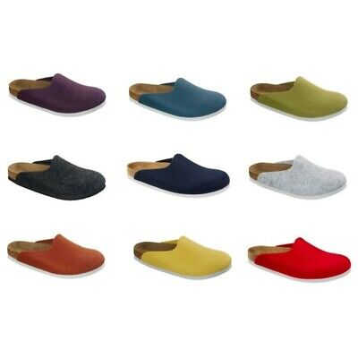 3a136a56c9a5 Birkenstock Amsterdam Felt Clogs Slippers anthracite or grey - Made in  Germany