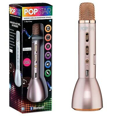 Popstar Bluetooth Karaoke Microphone Speaker Wireless Kids Portable Singing Mic