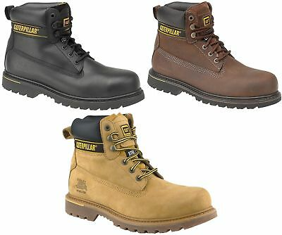 Caterpillar Holton CAT black, brown or honey leather SB SRA HRO safety boot