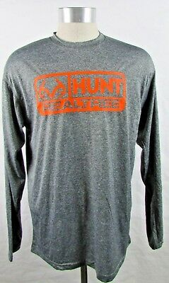 0b66ab4b7 REALTREE BY MOUNTAINAIRE Men's Heathered Black Long Sleeve T Shirt M ...