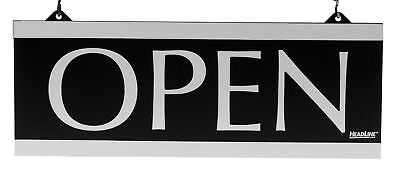 Headline Sign 4246 Century Series Reversible Open/Closed Sign, w/Suction Mount,