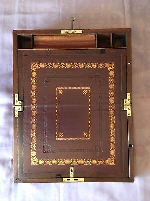 Georgian Writing Slope/ Box With Underdrawer And Working Lock And Key