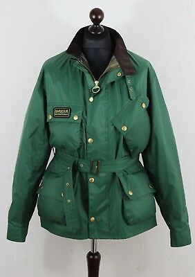 BARBOUR Men's International Nylon  Jacket size XXL - XL  Belted Green Authentic