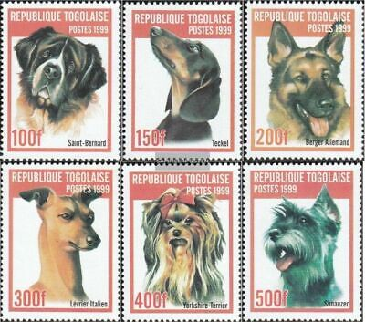 Togo 2823-2828 unmounted mint / never hinged 1999 Breeds