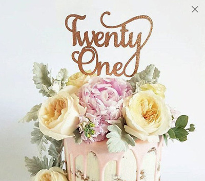 Twenty One Cake Topper - Assorted Colours - TwentyOne - Twenty First - 21 Cake