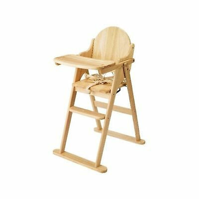 East Coast Folding Highchair (Natural All Wood) Antique Finish .