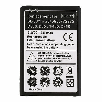 3500mAh Secondary Li-Ion Battery Replacement for LG BL-53YH/G3/D855 XJ