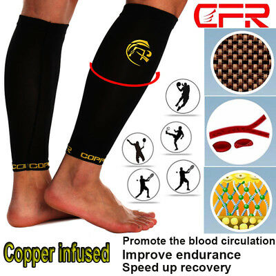 4254595e58 Copper Infused Calf Leg Compression Sleeve Socks Support Brace Joint  Elastic Men