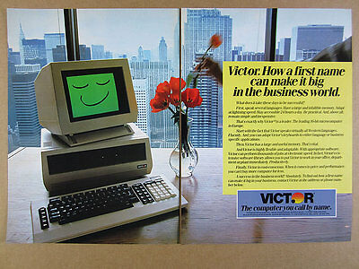 1983 Victor 9000 16-bit Computer color photo vintage print Ad