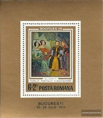 Romania block106 (complete issue) used 1973 Stamp Exhibition