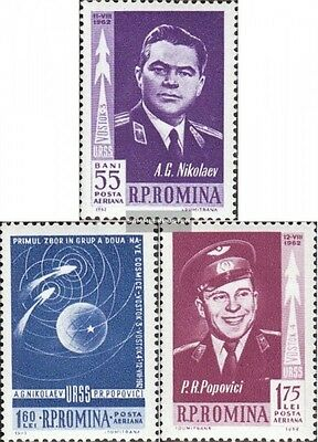 Romania 2096-2098 (complete.issue.) fine used / cancelled 1962 Vostok 3+4