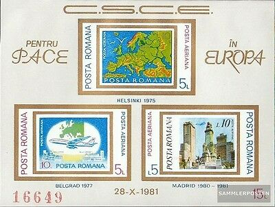 Romania block183 (complete issue) unmounted mint / never hinged 1981 CSCE