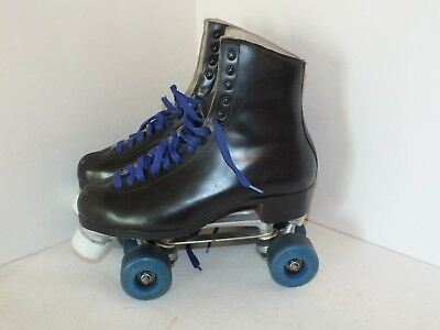 vintage RIEDELL RED WING MINN roller skates black leather mens size 8.5