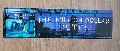 U2 - Million Dollar Hotel  - Promo Sticker Rare
