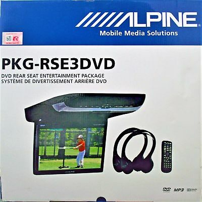 """ALPINE PKG-RSE3DVD 10.2"""" overhead video monitor w/ a built-in DVD player NEW!"""