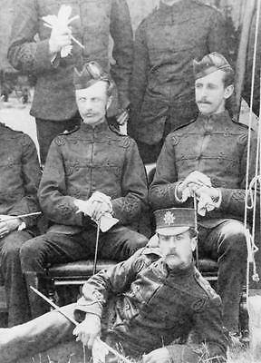 West Kent Regiment Officers in Patrol Dress Glengarrys 1890  Photograph Military