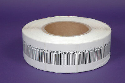 2000Pcs EAS Labels 8.2 MHz 5x5cm with Dummy Barcode