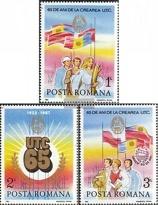 Romania 4320-4322 unmounted mint / never hinged 1987 communist youth association
