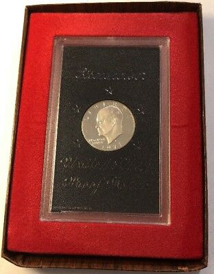 1971-S 40% Silver Proof Eisenhower Ike Dollar Brown Box