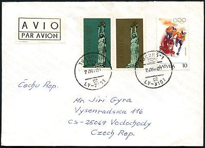 Latvia 1994 Airmail Commercial Cover To Czech Republic #C45058