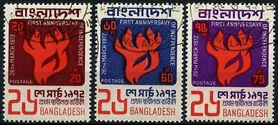 Bangladesh 1972 SG#13-15 First Anniv Of Independence Cto Used Set #D73821