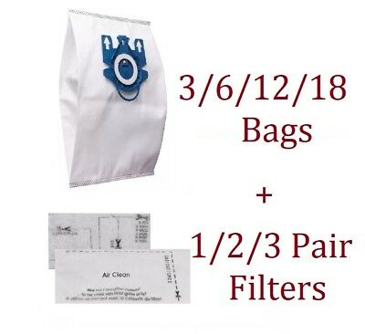 DUST BAGS Filters for MIELE GN VACUUM Cleaner HYCLEAN 3D COMPLETE C2 C3 S2 S5