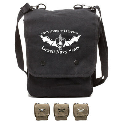 ISRAELI NAVY SEALS Canvas Crossbody Travel Map Bag Case