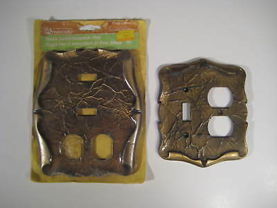 Amerock Carriage House Vintage Combo Light Switch and Outlet Covers (2)