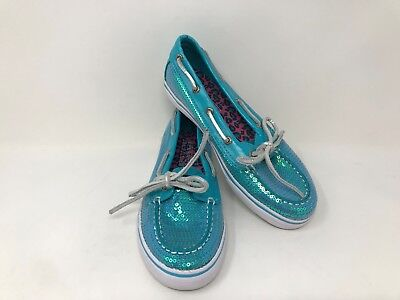 """NEW Clarks /""""SUPER SPARK/"""" Girls Teal Blue Suede Leather Shoes 11-11.5 F /& G Fit"""