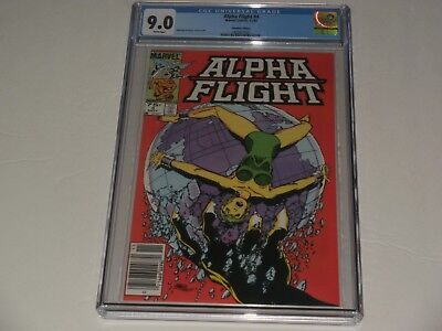 "Alpha Flight #4 CGC 9.0 ""Canadian"" NEWSSTAND edition. SAVE 💲 HERE! Key listings"