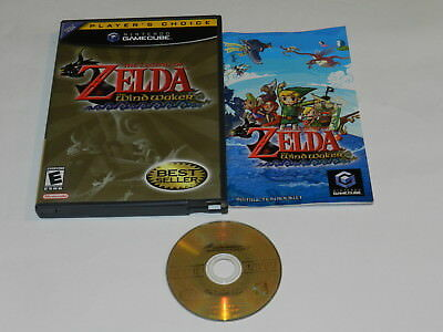 Legend of Zelda the Wind Waker Players Choice Nintendo GameCube Game Complete