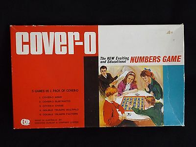 Vintage Retro Board game Cover-0  Numbers Game by Edwards Dunlop & Co Australia