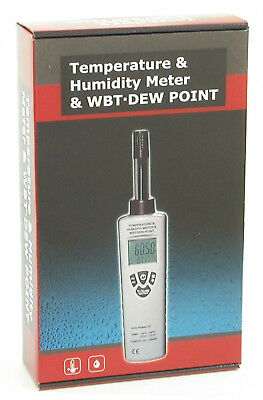 DT-321S Digital Humidity Temperature Dewpoint Wet Bulb Meter Moisture Tester NEW