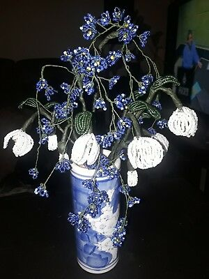 French Beaded Flowers snow drops & forget me nots