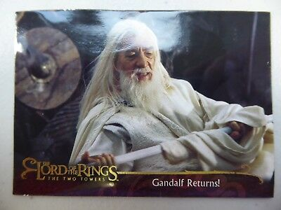 TOPPS Lord of the Rings: The Two Towers - Card #72 GANDALF RETURNS!