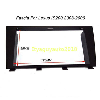 2 Din Radio fascia Panel Mount Face Plate For Lexus IS200 Toyota Altezza 03-06