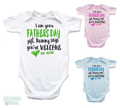 I AM YOUR FATHERS DAY GIFT Baby Romper Funny One piece Bodysuit Custom Dad Tee