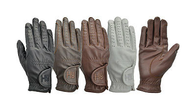 Hy5 Leather Riding Glove Black/Brown Various Size PR-3045